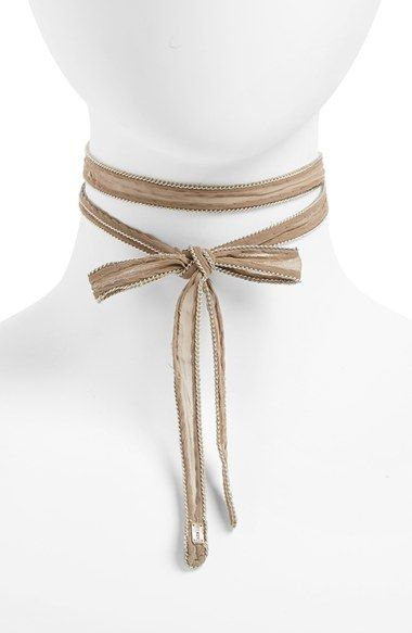 Free shipping and returns on Chan Luu Beaded Chiffon Choker at Nordstrom.com. Glass seed beads embellish the edges of a sheer chiffon choker that can be tied in a playful bow or wrapped twice around the neck for a more streamlined look.