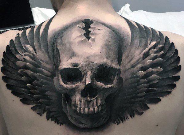 Manly Skull Back Tattoo Design Ideas For Men Back Tattoos For Guys Upper Back Tattoo Back Tattoos For Guys
