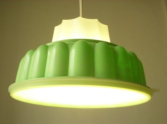 pendent light made from jello mold bootngus etsy