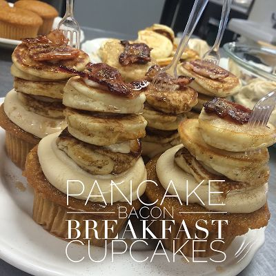 .Amanda Cupcake. Sweet Dreamer ♥: Pancake Bacon Breakfast Cupcakes for Dinner!
