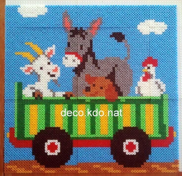 Farm Animals 2/3 hama perler beads by deco.kdo.nat