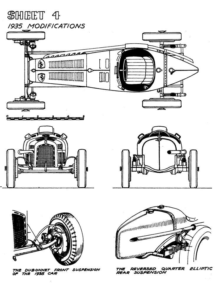 59 best classic cars blueprint images on pinterest vintage cars alfa romeo p3 tipo b 193435 smcars car malvernweather Gallery