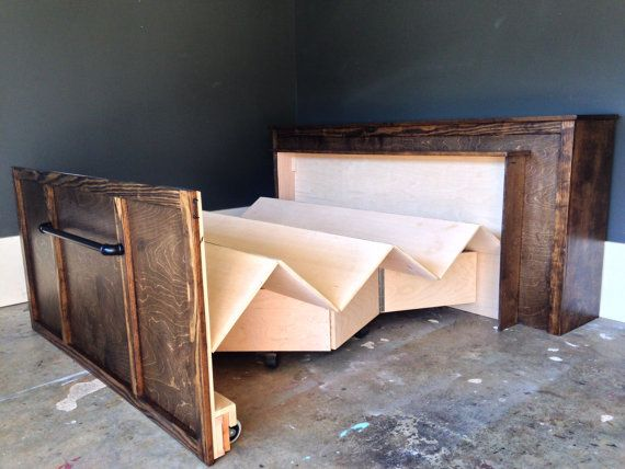 Roll Away Bed / Rustic Bed / modern bed /