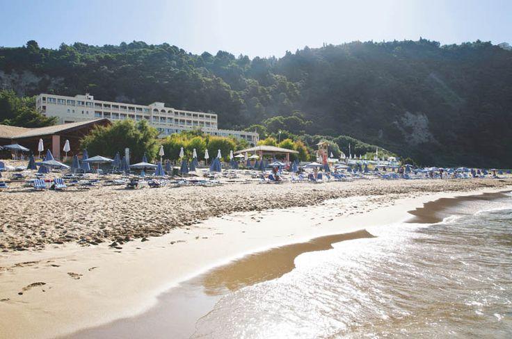The wonderful Glyfada beach in front of lti Louis Grand Hotel