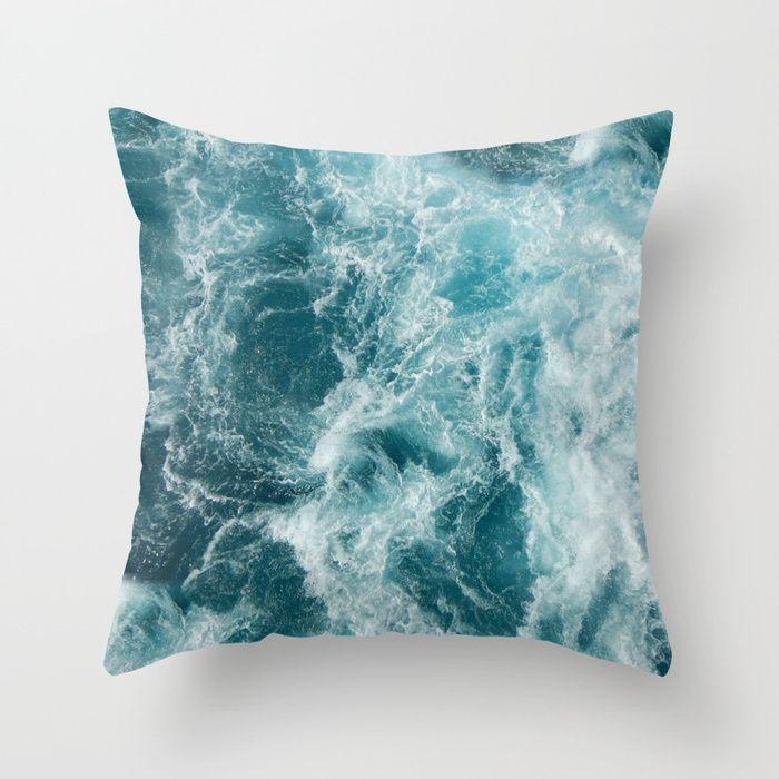 Sea Throw Pillow #society6 #beach #pillow