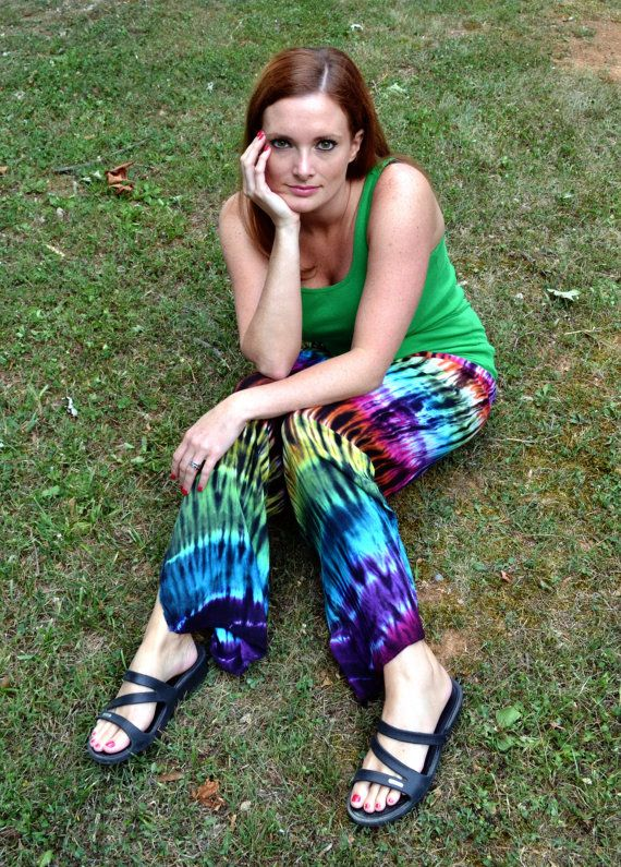 Tie Dye Pants, Wide Leg Pants, Lounge Pants, Hippie Pants