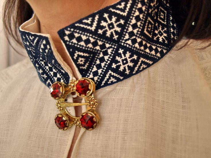 Embroidered collar of Latvian folk costume