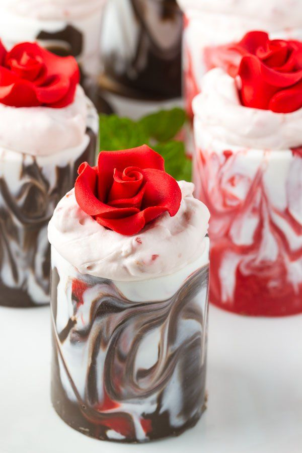 ... Mousse | Recipe | Strawberry Mousse, Chocolate Cups and Raspberry