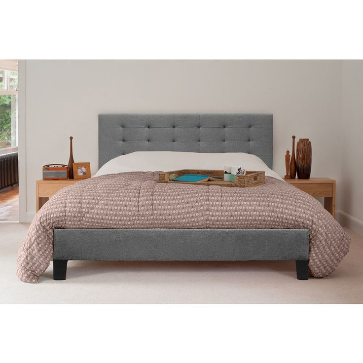 kensington king size fabric bed frame in grey shopping buy bedroom online at mydeal for - Double Size Bed Frame