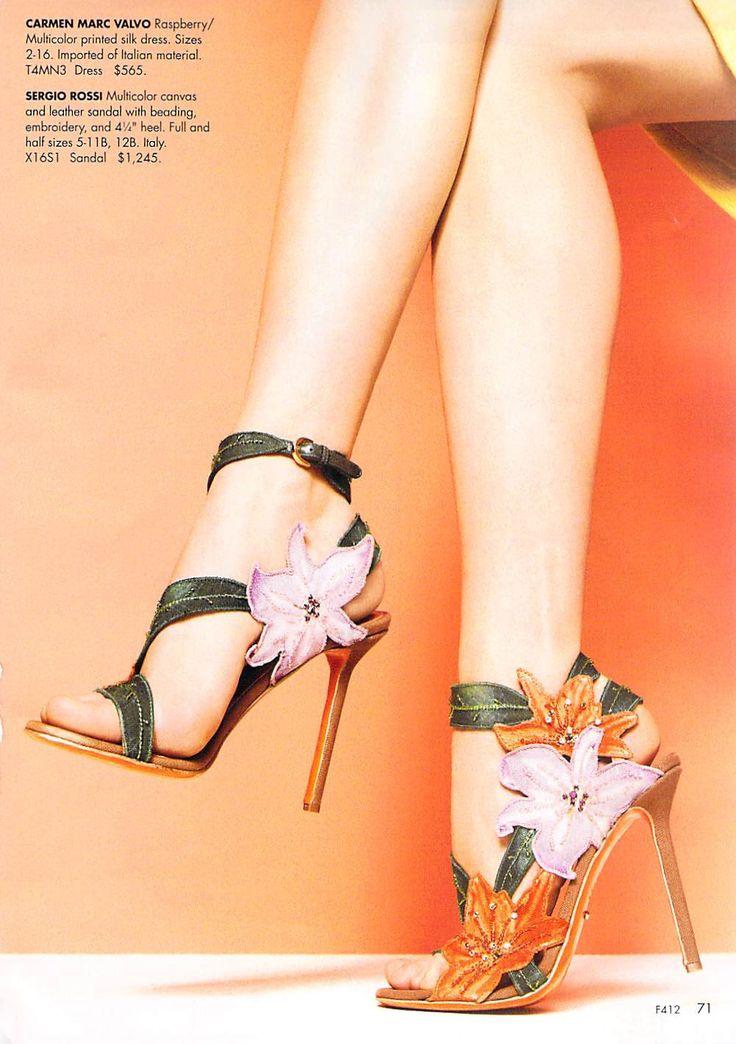 """sergio rossi """"chloris"""" sandal"""