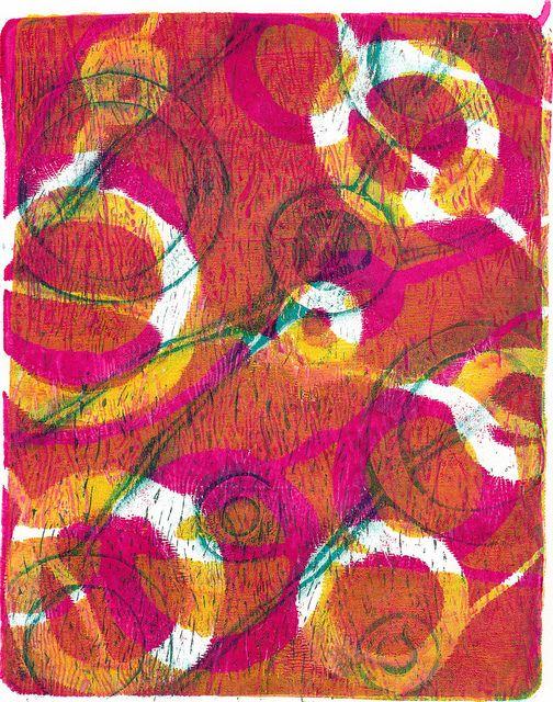 Monoprints using Gelli-Arts printing plate | Flickr - Photo Sharing!