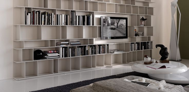 Wally knihovna s TV / living room bookcase