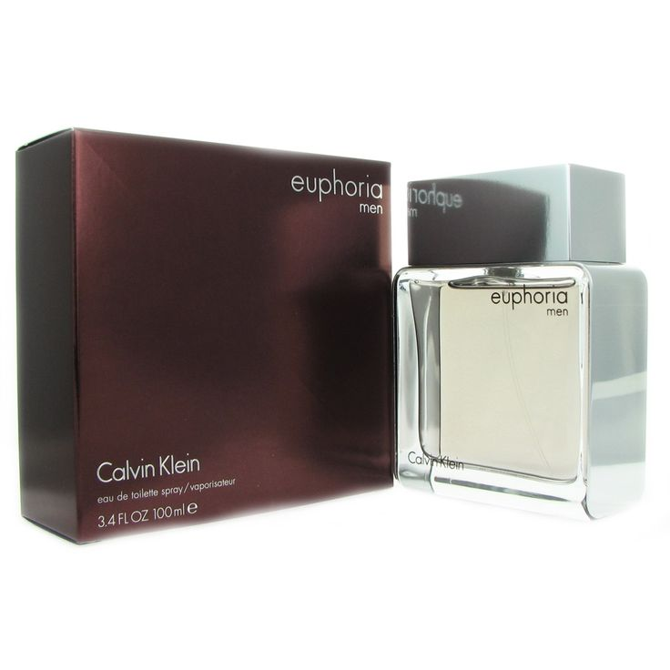 Euphoria Men by Calvin Klein 3.4-ounce Eau de Toilette Spray (3.4 Eau de Toilette), Black, Size 3.1 - 4 Oz.