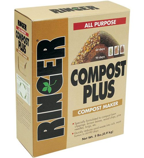 Ringer Compost Maker contains a proprietary blend of microorganisms which break down yard waste as well as a nutrient energy source for a fast composting start.