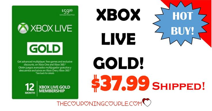 Save $20 on an XBOX Live Gold 12 Month Membership! Only $37.99!! Cheapest price around for this must-have! Awesome Gift Idea! Click the Picture below to get all of the details ► http://www.thecouponingcouple.com/12-month-xbox-live-gold-membership-only-35-99-shipped/  Use the SHARE button Below the Picture to SHARE this deal with your Family & Friends!  #Coupons #Couponing #CouponCommunity  Visit us at http://www.thecouponingcouple.com for more great posts!