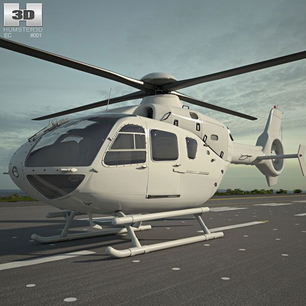 Eurocopter EC135 3d model from Humster3D.com