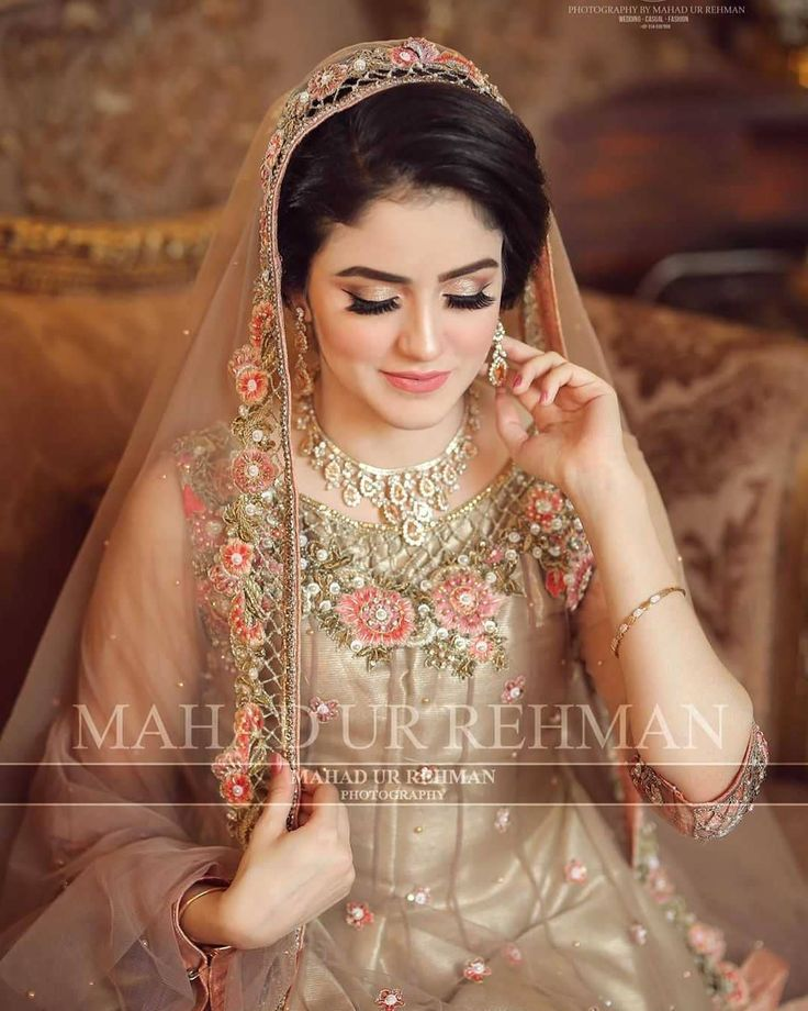 Prettiest Malaika on her Nikkah Day ❤️ Make-up By @alluresalonspaofficial Pho…