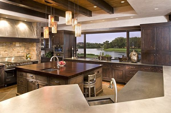 kitchen with amazing views