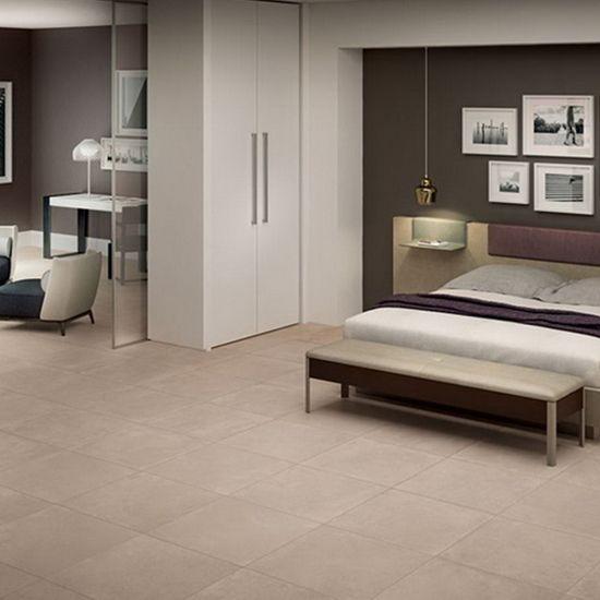 View Hill matt tile in sand. 600mm x 600mm