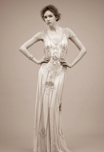 Jenny packham art deco wedding and art deco wedding dress for Jenny beckman wedding dresses