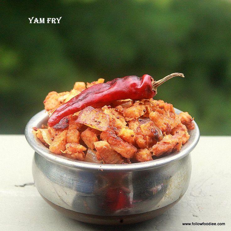 Follow foodie: Yam stir fry / Suran fry / senaikilangu varuval