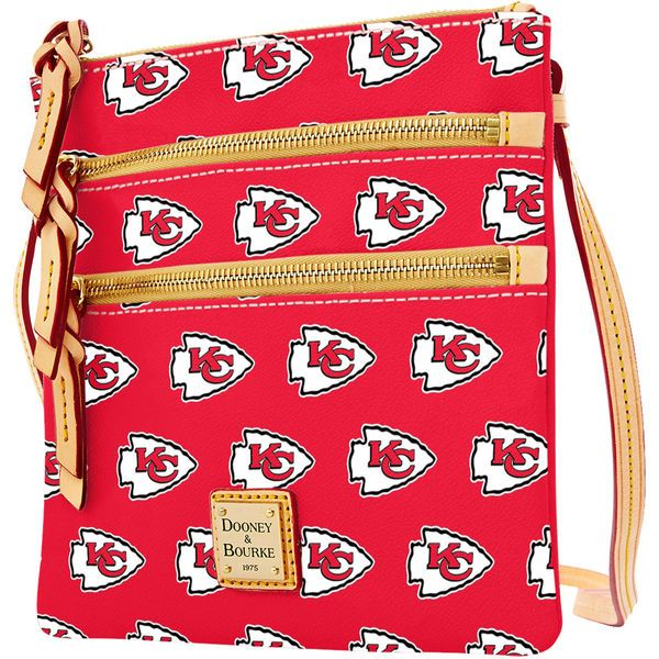 Normally, I'm more of a tote gal, but this Chiefs Crossbody bag is just too cute! Women's Kansas City Chiefs Dooney & Bourke Red Triple Zip Crossbody Purse #NFLFanStyle #sponsored