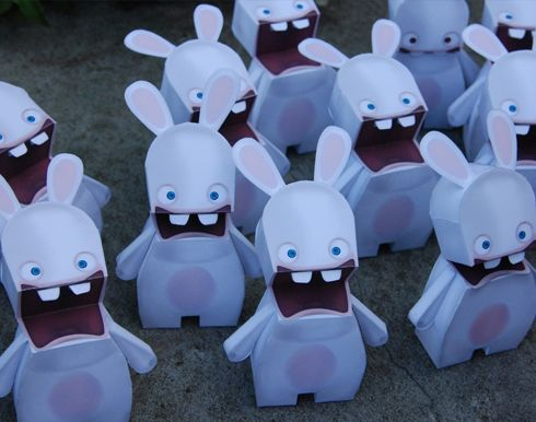 Raving Rabbids Papercraft