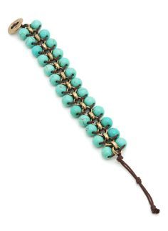 bracelet en turquesa, cadena y cordon.
