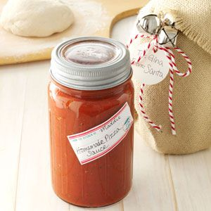 Homemade Pizza Sauce Recipe from Taste of Home -- shared by Cheryl Kravik of Spanaway, Washington