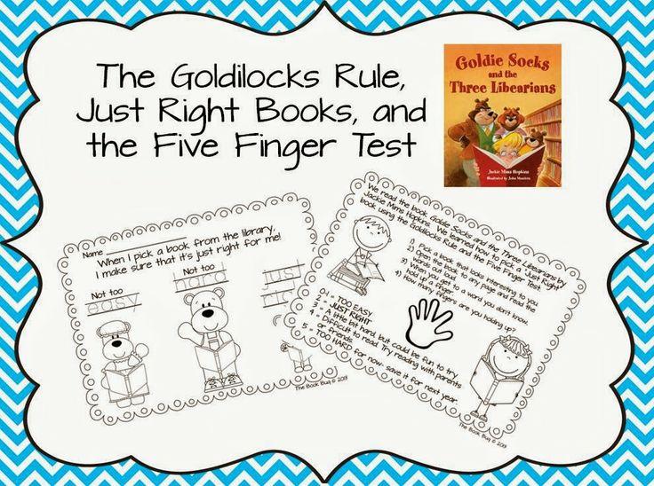 Goldilocks 5 Finger Rule | Goldilocks Rule, Just Right Books, Five Finger Test Worksheet