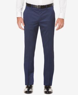 Perry Ellis Portfolio Men's Slim-Fit Non-Iron Stretch Dress Pants - White 31x30
