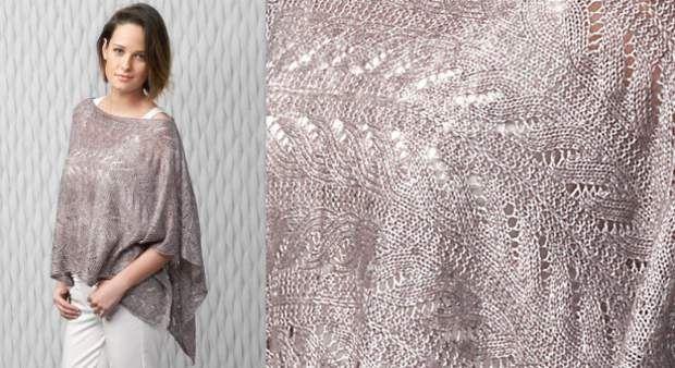 Le poncho au point ajouréNos explications de tricot. Cet hiver on va adorer les ponchos, celui-ci est tricoté horizontalement dans un point fantaisie ajouré. Un top délicat dans un fil beige poudré, à porter comme un châle, version tendance.
