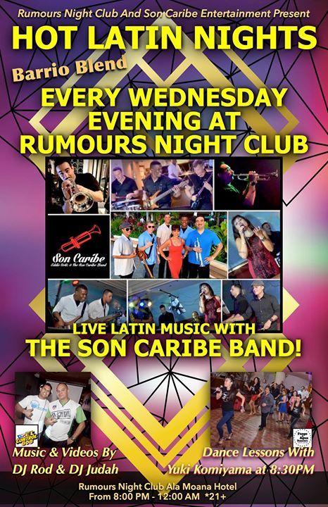 Son Caribe - Rumours Night Club's Hot Latin Nights! - http://fullofevents.com/hawaii/event/son-caribe-rumours-night-clubs-hot-latin-nights-3/