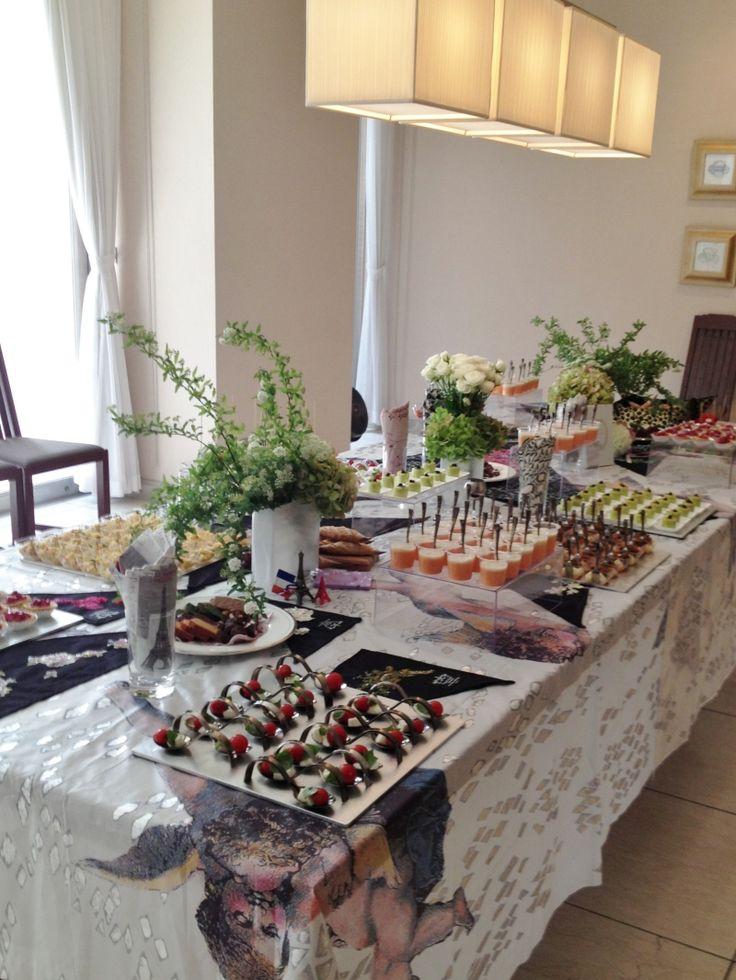 SpringPartyのテーブルとフィンガーフードメニュー の画像|LE COEUR ☆ハッピーエレガント日記☆