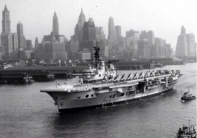 HMS Ark Royal at New York
