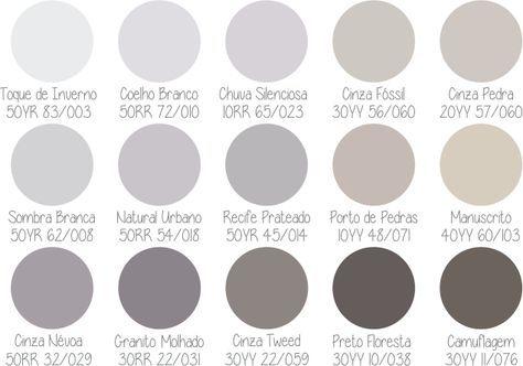 paleta Coral 50 tons de cinza