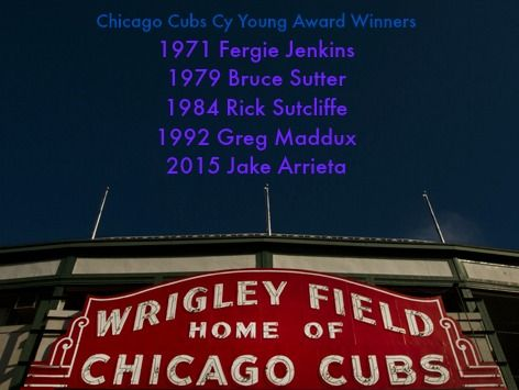 the Cubs have had a history of great pitching with these Cy Young Award Winners