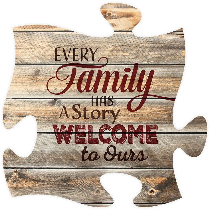 """Every family has a story, welcome to ours - Measures 12"""" x 12"""" square - all puzzle frames easily link together for a unique presentation"""