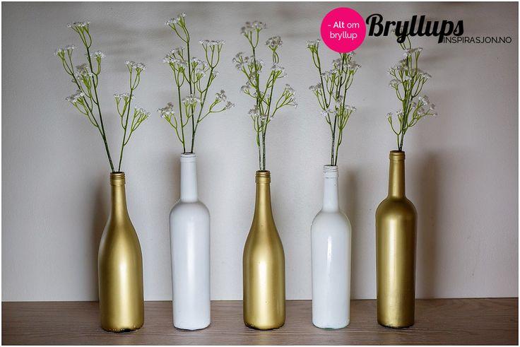 Gjør-Det-Selv: Vinflasker som borddekorasjon - BryllupsinspirasjonBryllupsinspirasjon