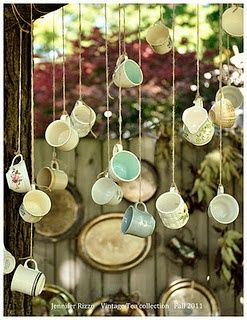 Find cheap tea cups at the dollarstore, or go for a vintage look by checking out the thrift stores!