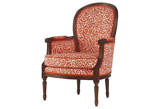 Stout Pattern: Shameless 1 Orange at One Kings Lane - Take a Seat - Helena Bergère.