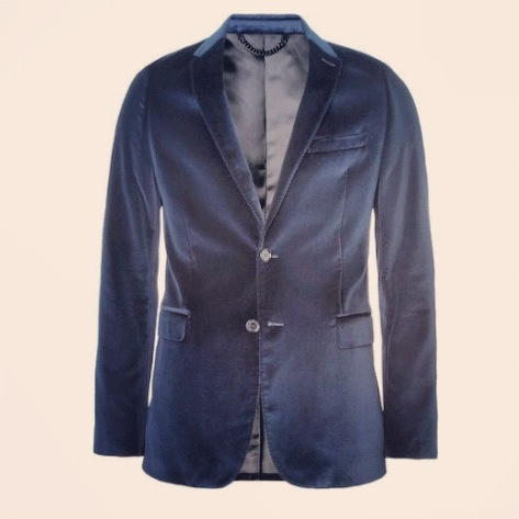 """""""I always suggest a slim-fit 2-button velvet blazer for a gent, like this  one by Burberry London. Black always works -- but also consider a blue, or  even oxblood."""" Nic Screws, Senior Associate Market Editor"""