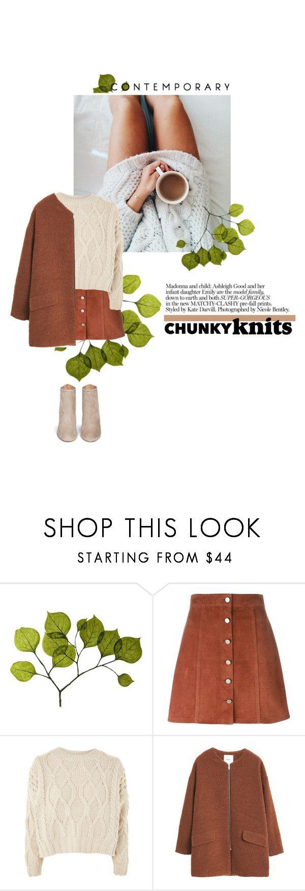 """chunky knits"" by fernweeh on Polyvore featuring moda, Dot & Bo, Theory, Topshop, MANGO i Aquazzura"