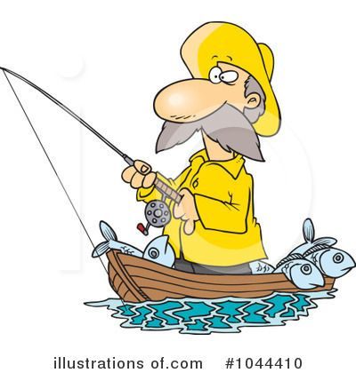 Fishing Clipart 1044410  Illustration By Ron Leishman Clipart