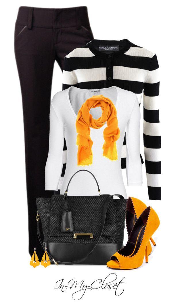 """Splash of Orange"" by in-my-closet ❤ liked on Polyvore featuring Dolce&Gabbana, James Perse, Diane Von Furstenberg, Giuseppe Zanotti, Bottega Veneta and Tarina Tarantino"
