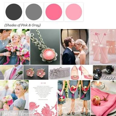 Shades of Pink + Gray via The Perfect Palette Library. xo