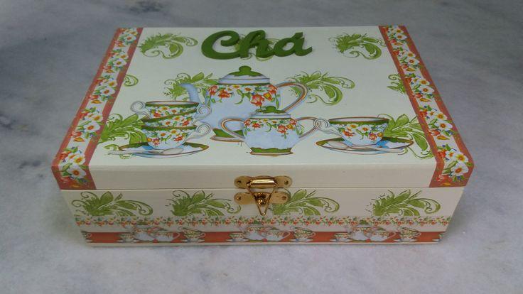 Caixa para chá mineral e verde - www.elo7.com.br/esterartes