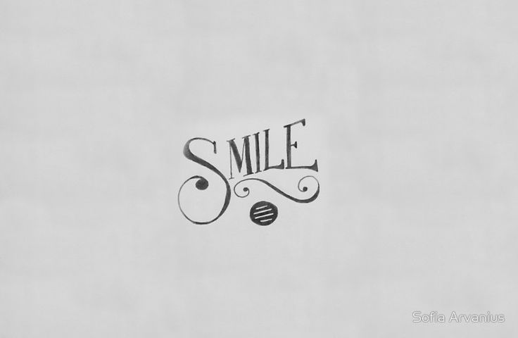 Smile Typography illustration by Sofia Arvanius.