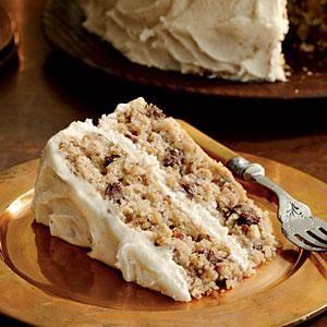 Mocha-Apple Cake with Browned Butter Frosting   MyRecipes.com