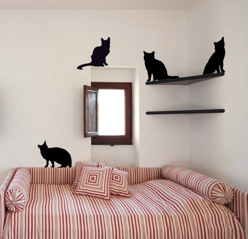 Cat Wall Decal | Silhopets